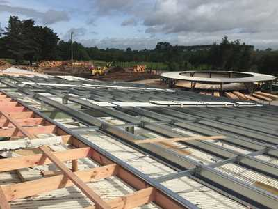 Commercial shed construction